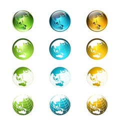 Globe Logo or Icon Set vector image vector image