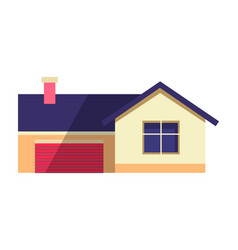 house in flat country cottage vector image vector image