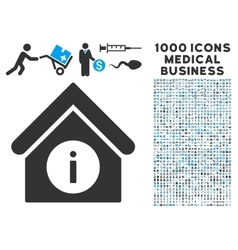Info building icon with 1000 medical business vector
