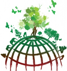 ink splat tree world vector image vector image