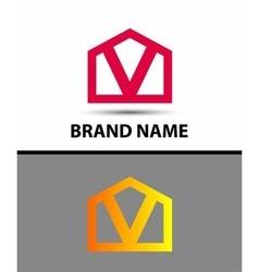Letter V logo icon vector image vector image