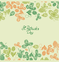 Natural saint patricks day greeting poster vector