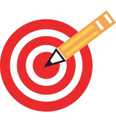 Pencil target vector