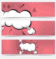 Pop art explosion comic book web collection vector image
