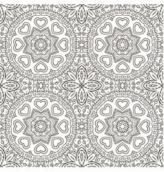 Seamless doodle pattern ethnic motives zentagl vector