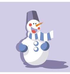 Snowman color 09 vector image