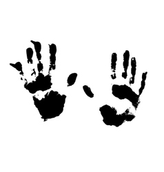 Splatter hands print vector