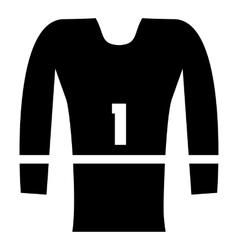 Sport uniform icon simple style vector