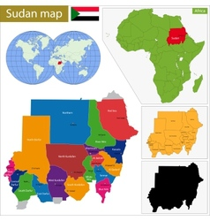 Sudan map vector