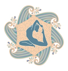 summer yoga vector image