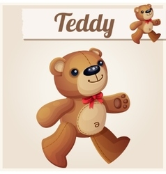 Teddy bear walks Cartoon vector image vector image
