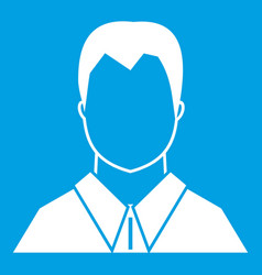 User icon white vector