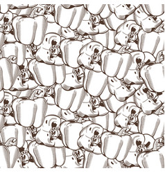 vintage pepper seamless pattern vector image vector image