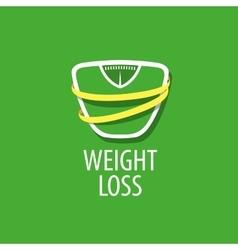 weight loss logo vector image vector image