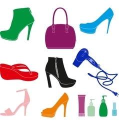 Women Accessories Set vector image vector image