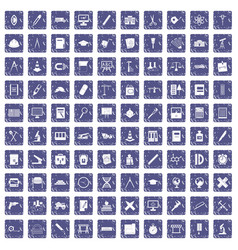 100 compass icons set grunge sapphire vector