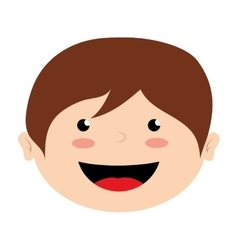Face boy smile isolated icon design vector