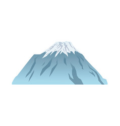 Snow peak mountain travel tourism vector
