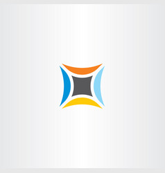Abstract technology logo star icon vector