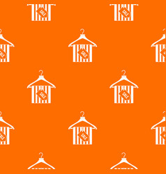 Hanger with sale tag pattern seamless vector