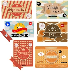 Vintage packages vector