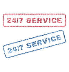 24-7 service textile stamps vector image