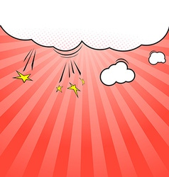 Pop-art style cloud explosion background template vector
