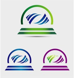 Creative abstract wave logo vector
