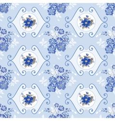Vintage Floral Background - Blue Flowers vector image