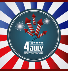 4th july independence day card greeting event vector