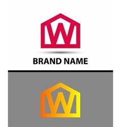 Letter w logo icon vector