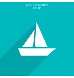 Yacht web icon vector