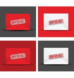Official envelope set vector