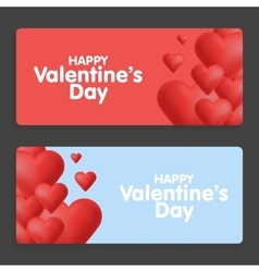 Valentines day abstract cards with hearts vector