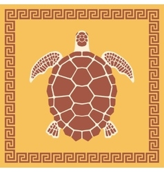Sea Turtle ornament vector image