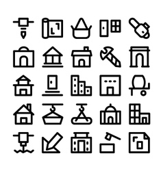 Construction icons 6 vector