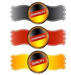 Three German symbols vector image