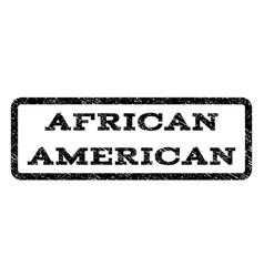 African american watermark stamp vector