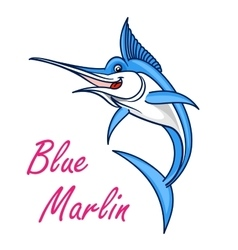 Atlantic blue marlin symbol for mascot design vector