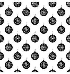Christmas ball pattern seamless vector image