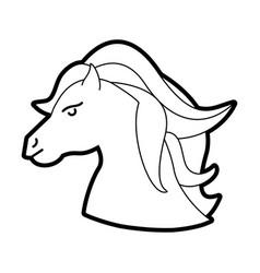 Cute little unicorn cartoon vector