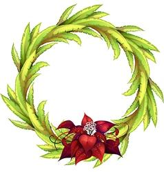 Decorative floral laurel vector image vector image
