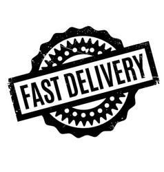 Fast delivery rubber stamp vector