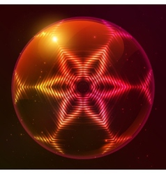 Fire red abstract sphere vector image