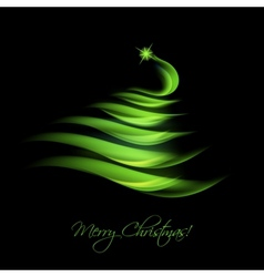 green abstract christmas tree vector image vector image