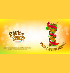 greeting card or banner to first september vector image vector image