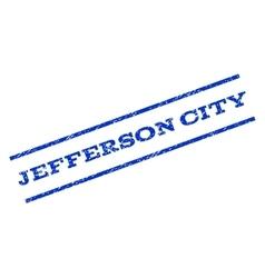 Jefferson city watermark stamp vector