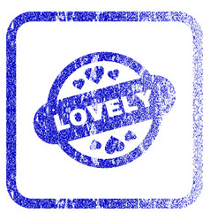 Lovely stamp seal framed textured icon vector