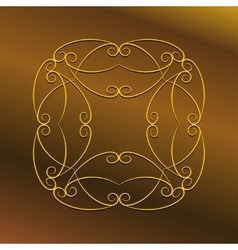 Luxury frame ornament vector