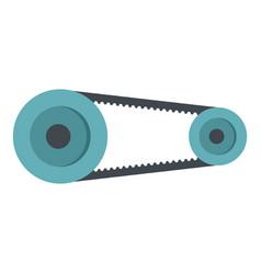 Mechanic belt icon isolated vector
